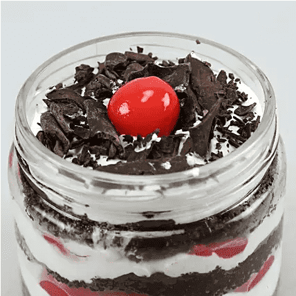 balckforest jar cake