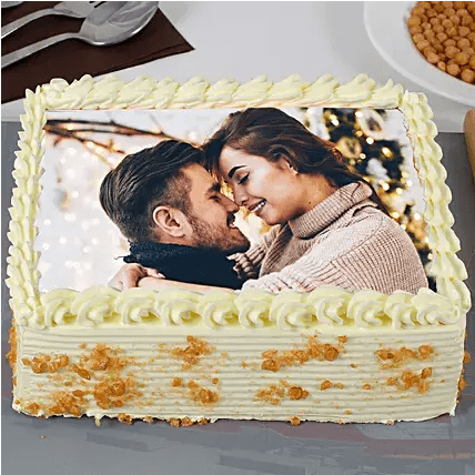 butter scotch photo cake front