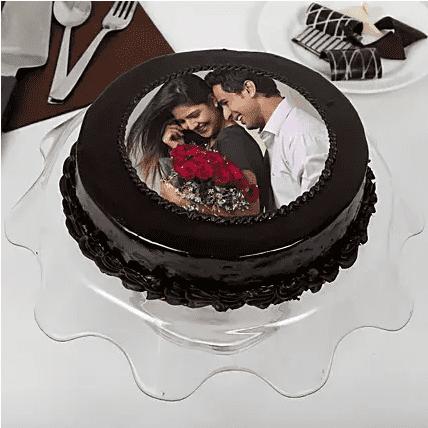 choco-bliss-photo-cake with tray
