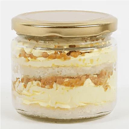 crusty butterscotch jar cake front