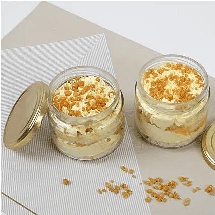 crusty butterscotch jar cake