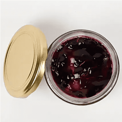 lovely blueberry jar front top