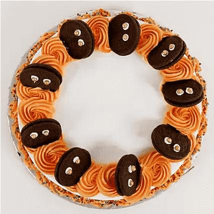 vanilla cake with oreo